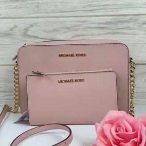🌺Michael Kors Crossbody Bag & Wallet Set Pink